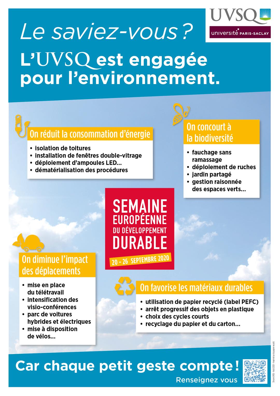 semaine developpement durable 2020