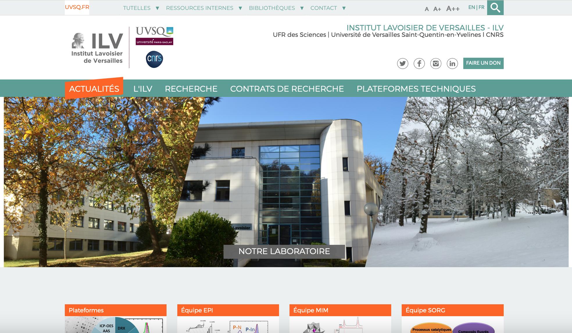 site internet laboratoire ILV