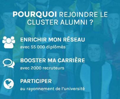 Pourquoi rejoindre le cluster alumni ?