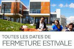 Dates de fermeture estivale de l'UVSQ 2015