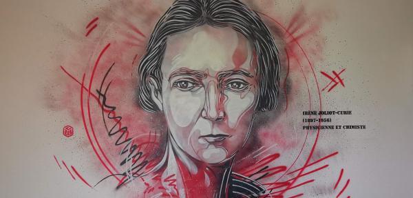 Fresque Irene Joliot Curie