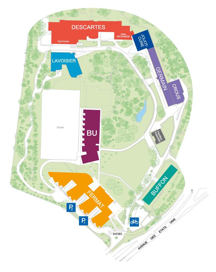 plan campus de versailles