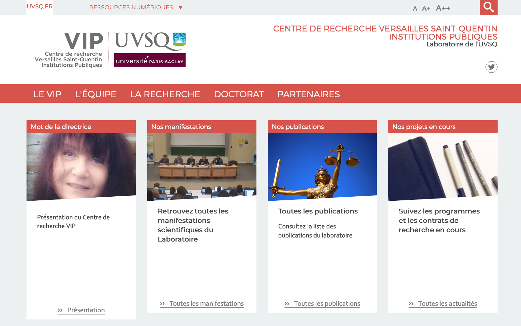 site web laboratoire VIP