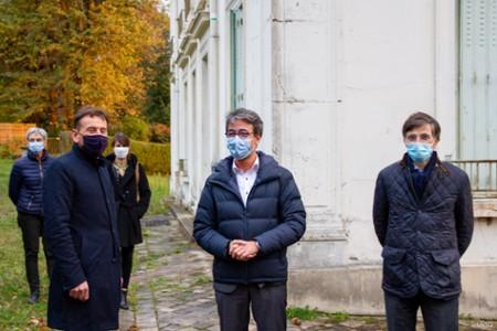 Pascal Thevenot (Maire de Vélizy-Villacoublay), Alain Bui (président de l'UVSQ) et François de Mazières (Maire de Versailles)