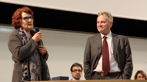 L'occasion aussi de saluer Catherine Boudoux, la directrice des moyens généraux qui a participé à la création de l'université et qui part en retraite après 25 ans de bons et loyaux services.